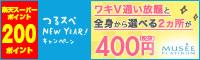 ワキV通い放題+全身から選べる2ヶ所400円(税抜)
