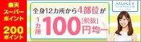 脱毛4部位1箇所100円(税抜)!